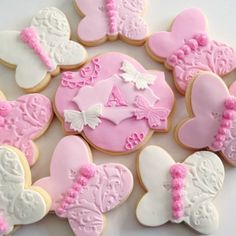 https://flic.kr/p/qh1iw1 | Monogram and butterfly cookies for a baby shower…