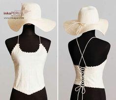 Top tipo corsé. Moda 100% algodón natural peruano.