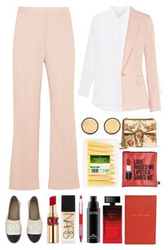 """4.212"" by katrina-yeow ❤ liked on Polyvore featuring STELLA McCARTNEY, Gucci, Linda Farrow, Chanel, Sephora Collection, Yves Saint Laurent, NARS Cosmetics, MAC Cosmetics, Elizabeth Arden and Smythson"