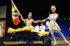 TRADITION CARNAVALESQUE. ICÔNE SYMBOLIQUE DE LA CONVIVIALITÉ. MESTRE SALA & PORTA BANDEIRA. Ambassadeurs du Prestige de l'école symbolisé par le Drapeau, c'est un Couple Mythique de la Tradition du Carnaval entretenues par les écoles de Samba.