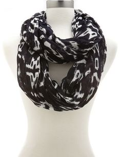 Abstract Print Infinity Scarf: Charlotte Russe