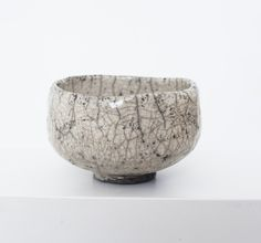 Raku matcha bowl by Dormantė Penkinski. GYVA collection, Vilnius, Lithuania. SOLD