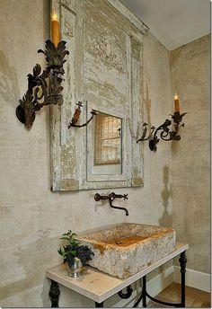 Stone sink, faucet and metal vanitu base!!!!