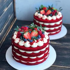 Secrets To A Perfect Cake ❤❤❤ You& to Love what you do! - Secrets To A Perfect Cake ❤❤❤ You& to Love what you do! Food Cakes, Cupcake Cakes, Mini Cakes, Fruit Cakes, Bolo Red Velvet, Red Velvet Cakes, Blue Velvet, Bolos Naked Cake, Baking Recipes