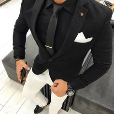 Black Men Suits Business Man Clothing Groom Wea Wedding Tuxedos Costume Mariage Homme Groomsmen Blazer Two Piece Slim Fit trajes de hombre Mens Fashion Suits, Mens Suits, Fashion Hats, Dapper Suits, Fashion Outfits, Style Masculin, Designer Suits For Men, Stylish Mens Outfits, Blazer Outfits