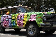 Peep-covered Jeep! - Art Car Parade 2007-19.jpg by MacBook Joe, via Flickr