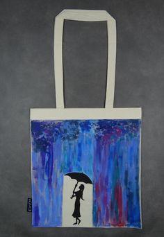 bag with colorful rain