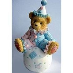 Cherished Teddies WALLY, Clown on Ball Figurine, 103934