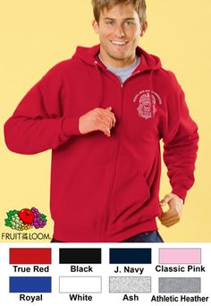 #fruitoftheloom #5050 #fullzip #hooded #corporate #sweatshirt $27.67 Features: 50% cotton, 50% polyester; 1-piece 1-ply hood; matching molded zipper; tipped draw-cord; single-needle top-stitched neckline; ribbed cuffs and bottom band; metal grommets; pouch pocket; tagless; 8-ounce. Price includes embroidery on left chest. http://ezcorporateclothing.com/custom/107-Zippered-Sweatshirts/929-Fruit-Of-The-Loom-Best-5050-Full-Zip-Hooded-Sweatshirt/