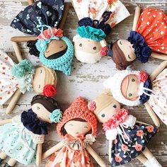 Group Shot!! ❤️ Tomorrow is the big day!! All eight #happythoughtscollection dolls will be added to the shop at 11am (CST)!! ❤️ #availablesaturday #nov5restock #spuncandydolls #handmadedolls #clothdolls #shopearlyforchristmas #nurserydecor #kidsstyle #handmadeomaha