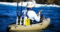 DIY ideas for setting you kayak fishing.