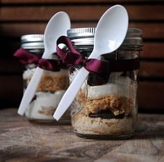 Smores in a Jar, YUM! from @Julia Mestas