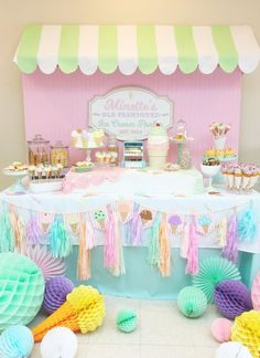 Vintage Ice Cream Parlor Party by Minted and Vintage | Dessert Stand Rentals ~ Los Angeles, California