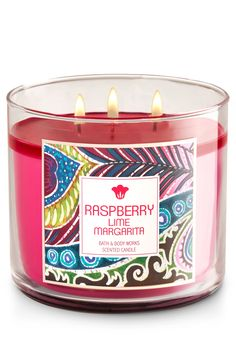Raspberry Lime Margarita 3-Wick Candle - Home Fragrance 1037181 - Bath & Body Works
