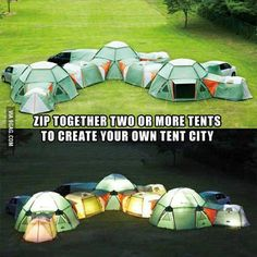 Create your own tent city..cool