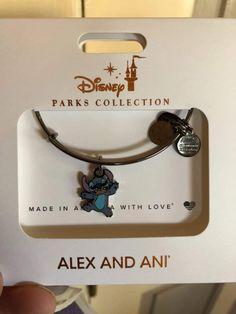 Stitch Alex and Ani Cute Jewelry, Jewelry Accessories, Alex And Ani Disney, Alex And Ani Bracelets, Wrap Bracelets, Pandora Bracelets, Cute Stitch, Disney Souvenirs, Disney Aesthetic
