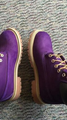 FREE SHIPPING Custom Purple Timberland Boots by MBKSHOETIQUE