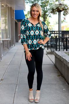 Printed Fall Button Blouse | uoionline.com: Women's Clothing Boutique