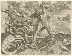 Hercules Overcomes the Hydra of Lerna (Hercules overwint de Hydra van Lerna), Cornelis Cort, 1563