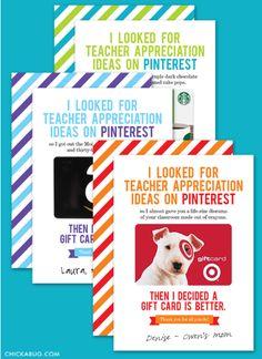 Teacher Appreciation Printable Roundup | The Shopping Mama