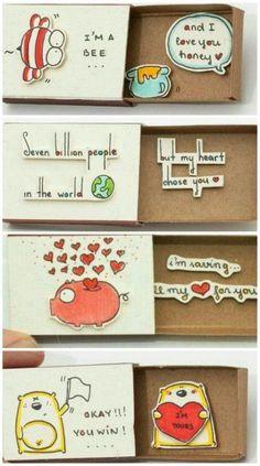 Birthday diy crafts valentines Ideas – Presents for boyfriend diy Valentines Bricolage, Valentine Crafts, Valentines Diy For Him, Valentine Ideas, Valentine Decorations, Birthday Diy, Birthday Gifts, Matchbox Crafts, Matchbox Art