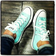 Tiffany blue converse - LOVE! - Click image to find more shoes posts