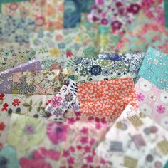 Liberty of London fabrics would be so great in a string pieced quilt, all in one color family.