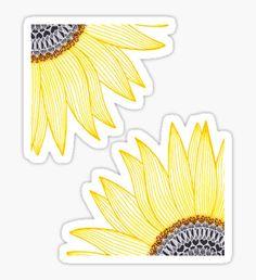 Golden Mandala Sunflower !! Sticker