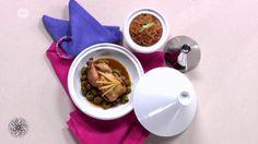 Een feestelijk maal naar het #recept van #Choumicha: Haantjes gevuld met vermicelli van rijst (22)