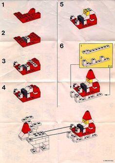 Basic - Santa with Reindeer and Sleigh [Lego - lego stuff - Lego Christmas Ornaments, Kids Christmas, Christmas Crafts, Father Christmas, Retro Christmas, Christmas Christmas, Santa With Reindeer, Reindeer And Sleigh, Lego Winter
