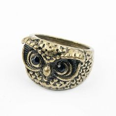 Retro Style Owl Ring