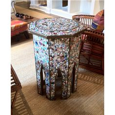 mosaic-side-table