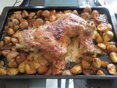 Cuisse de dinde aux poivrons et pommes de terre : Recette de Cuisse de dinde aux poivrons et pommes de terre - Marmiton