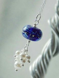 Lampwork bead with dangles