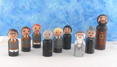 In Stock:  Ultimate Wizard Peg People Set by MakingsFromMommyland