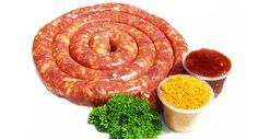 Sosatie Spics Sausages - Buy good quality biltong online delivered to your door South African Dishes, South African Recipes, Asian Recipes, Making Sausage, How To Make Sausage, Biltong, Mince Meat, Wonderful Recipe, Sausage Recipes