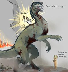 """""""Duke 'till Dawn""""; Original Source: http://kiiwichan.tumblr.com/post/67084260770/average-day-at-site-19-i-dont-know-why-i-drew This is it. The best SCP fanart. The best thing? Its canon."""