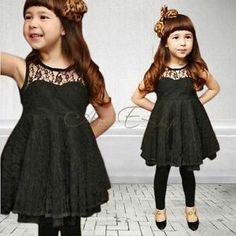 Girls Kids Fashion Lace V Back Party Pageant Wedding Dress Clothing SZ 2 7 Y | eBay
