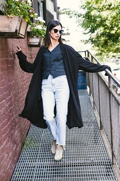 Get this look: http://lb.nu/look/8777797  More looks by Ewa Sleszynski: http://lb.nu/urbancreativitea  Items in this look:  Thom Browne Sunglasses, Natasha Dziewit Coat, Dolce & Gabbana Vest, Topshop Jeans, Isabel Marant Shoes   #formal #retro #street #photooftheday #lookoftheday #outfitoftheday #potd #lotd #ootd