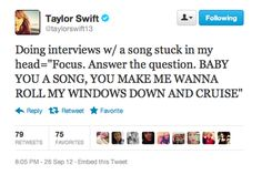 Even T. Swift gets that song stuck in her head...