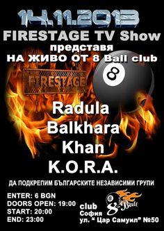 Firestage Tv Show и 8 Ball Club в подрекпа на българските независими банди!