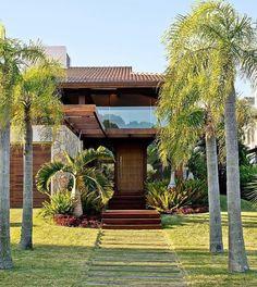 New exterior house design rustic dreams ideas Tropical House Design, Tropical Houses, Modern House Design, Tropical Architecture, Facade Architecture, Future House, My House, Farmhouse Interior, House Goals
