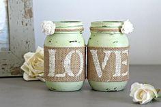 Rustic Light Green Wedding Table Decor - Love Live & Create-Furniture, Home & Wedding Decor