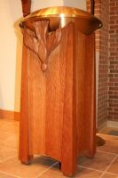 Baptismal Font - Furniture - Altars, Chairs, Lecterns, etc. Altar, Fonts, Chair, Google Search, Furniture, Home Decor, Log Projects, Designer Fonts, Decoration Home