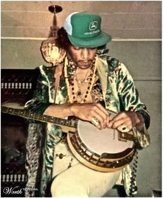 Rare Photo Jimi Hendrix Finds A Banjo