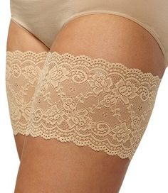 Amazon.com: Bandelettes Elastic Anti-Chafing Thigh Bands - Prevent Thigh Chafing - Beige Onyx, Size C: Clothing