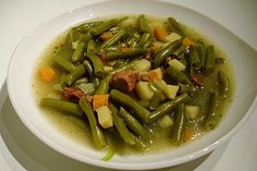 Soup Recipes, Cooking Recipes, Healthy Recipes, Ratatouille, Soups And Stews, Green Beans, Food Porn, Veggies, Food And Drink