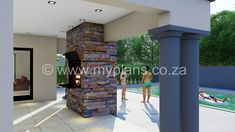 4 Bedroom House Plan - My Building Plans South Africa 4 Bedroom House Plans, My House Plans, Family House Plans, My Building, Building Plans, Modern House Design, Open Plan, South Africa, How To Plan