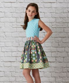 Look at this Matilda Jane Clothing Blue Floral Seeing Stars Dress - Girls on #zulily today!