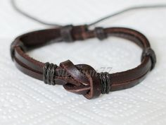 568 Men's brown leather bracelet Leather bands bracelet Leather cords bracelet Cotton ropes bracelet Fashion leather jewelry For men & women